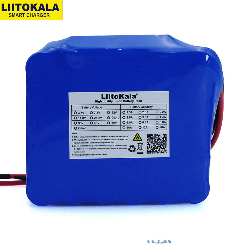 LiitoKala 12V 20Ah high power 100A discharge battery pack BMS protection 4 line output 500W 800W 18650 battery-in Battery Packs from Consumer Electronics