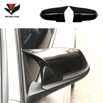 Gloss Black M3 M4 Style ABS Side Mirror Covers for BMW 1 2 3 4 Series F20 F21 F22 F23 F30 F31 F32 F87 F33 F36 GT F34 image