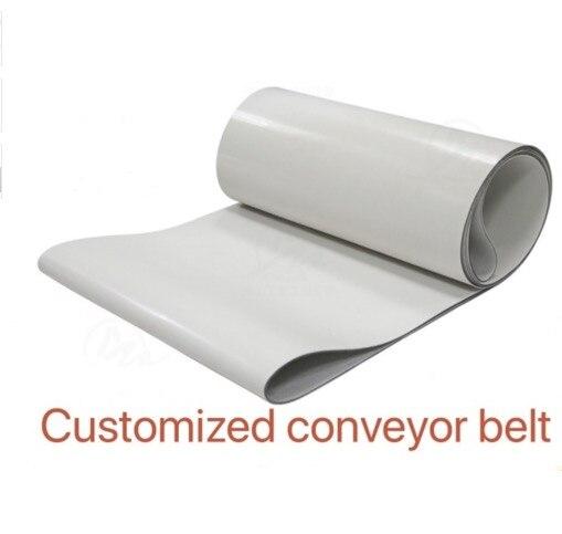 2000mm * 100mm * 3mm (Personnalisé) PVC Blanc Transmission Convoyeur Ceinture Ceinture Industrielle