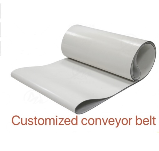 2000mm * 100mm * 3mm (personnalisé) PVC blanc bande transporteuse de Transmission bande industrielle