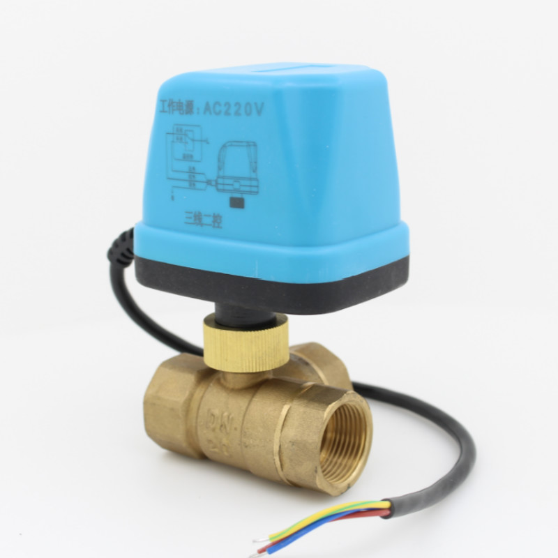 3 way motorized ball valve 12V 24V 220V electric ball valve electric actuator brass ball valve 3-Wire DN15 DN20 DN25 DN32 DN40 electric motorized brass ball valve dn15 dn20 dn25 dn40 dn50 dc24v ac24v 2 way 3 wire with actuator valves motorized ball valve