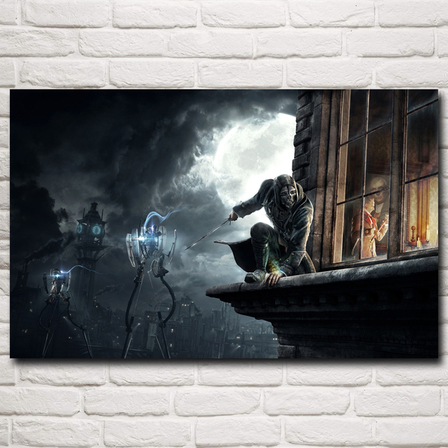 Dishonored Video Game Art Silk Fabric Poster Prints Home Wall Decoration Painting 12×19 15×24 19×30 22×35 Inch Free Shipping