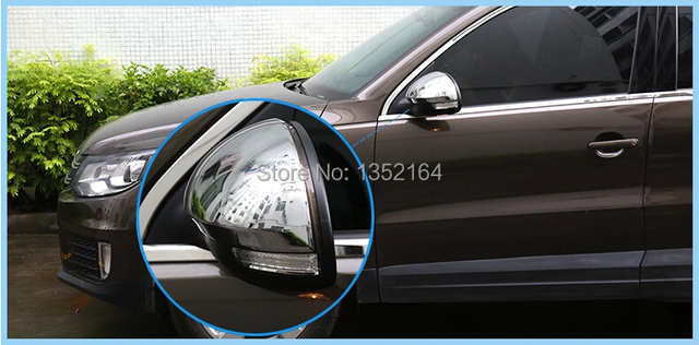 Rear view mirror cover,auto mirror cap bezel for Volkswagen Tiguan 2013-2015,ABS chrome,2pcs/lot,free shipping