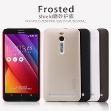 Asus Zenfone 2(ZE551MLZE550ML) case NILLKIN Super Frosted Shield back cover case with free screen protector and Retail package