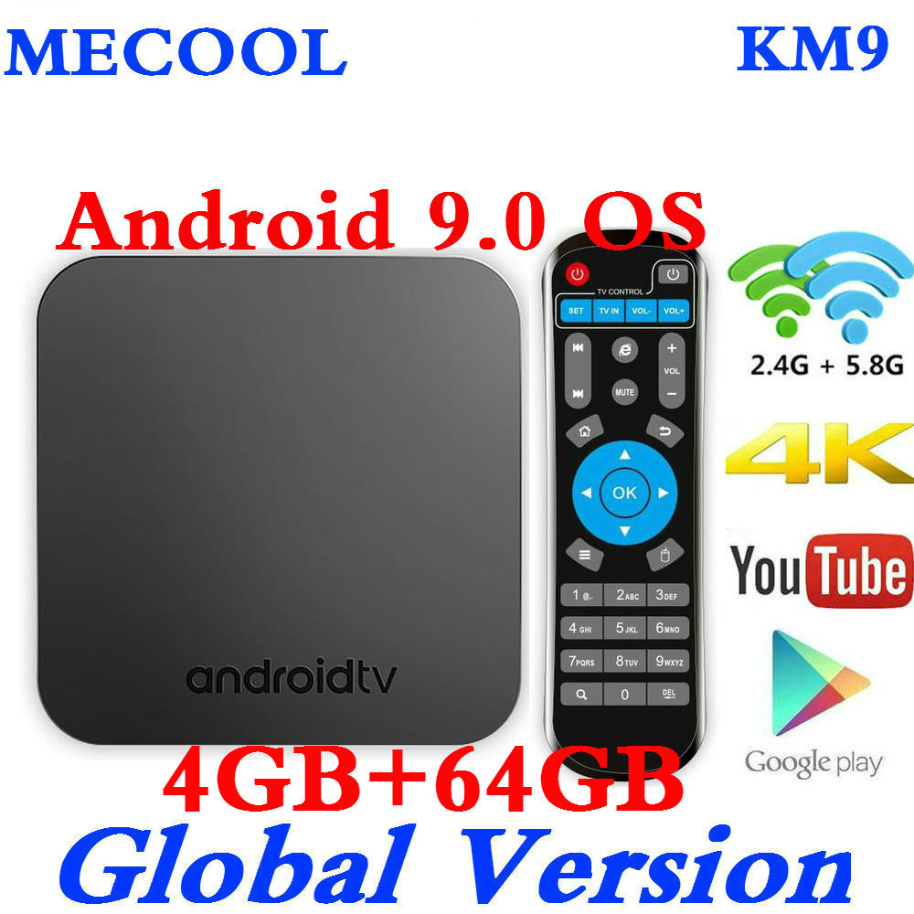 2019 4 GB RAM 64 GB ROM Mecool KM9 TV Box Android 9,0 S905X2 4 K Media Player DDR4 32 GB 2,4G/5G Dual WiFi BT4.1 Smart Set Top Box