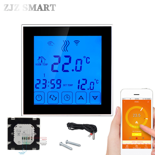 smart house Wifi Programmable APP intelligent Water Heating Thermostat  Temperature Switch Controller Controller for Hot Floor