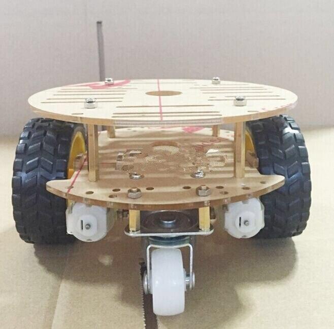 Caizhixing inteligente chassi do carro 2wd/robô que traça o carro magnético forte do motor rt-4/carro da evasão 1 pces