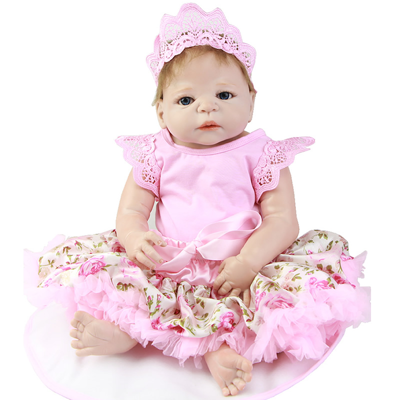 Hot Sale 23 Red Skin Reborn Baby Girl Full Body Silicone Vinyl Adorable True to Life