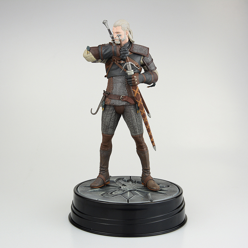 QICSYXJ Birthday Gift Supply Games The Witcher 3 Action Wild Hunt Figure 24cm Geralt Model Doll Decorations with Retail Box