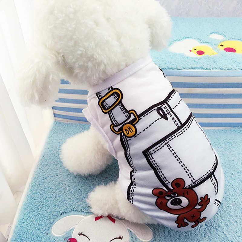 8 di stile Del Fumetto Del Cane Della Maglia Vestiti Dell'animale Domestico di Estate T-Shirt Puppy Coat Costume Per Chihuahua XS-XXL Formato Pet Abbigliamento ZL86