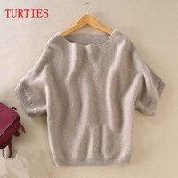 Seasons A Word Collar Cashmere Sweater New Women Loose Big Yards Bat Shirt Was Thin Short