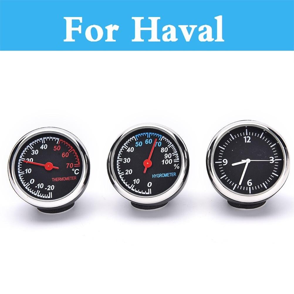 Car Thermometer Hygrometer Mechanical Round Quartz Clock Hygrometer For Haval 9 M4 C30 C50 C20r H2 H3 H5 H6 H8 H8 H
