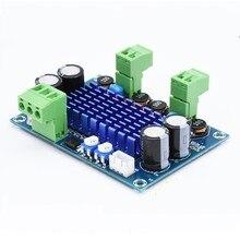 XH-M572 tpa3116d2 2x120w 8v-28v alta potência amplificador de alta fidelidade digital placa de sinal de áudio impulso