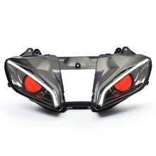 KT Headlight for Yamaha YZF R6 2008-2016 LED Optical Fiber Red Demon Eye Motorcycle HID Projector Assembly 09 10 11 12 13 14 15