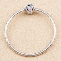 925 Sterling Silver New Fashion Crystal From Swarovski Bracelet Bradawl Luxury Bangles Women Romantic Christmas Gift
