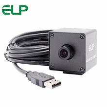 5MP 2592*1944  cmos OV5640  MJPEG&YUY2 machine vision surveillance mini black camera usb with 3.6mm lens
