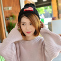 Korean fashion women knitting national flag hat high quality pointed hat cute knitted luxury lady hat