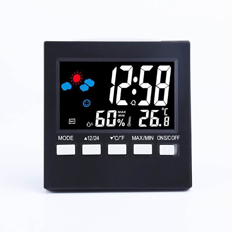 LCD Creative Household Kitchen Liquid Crystal Electronic Desk Clock Weather Calendar Display Thermohygrometer yppd j015b lg lcd liquid crystal module