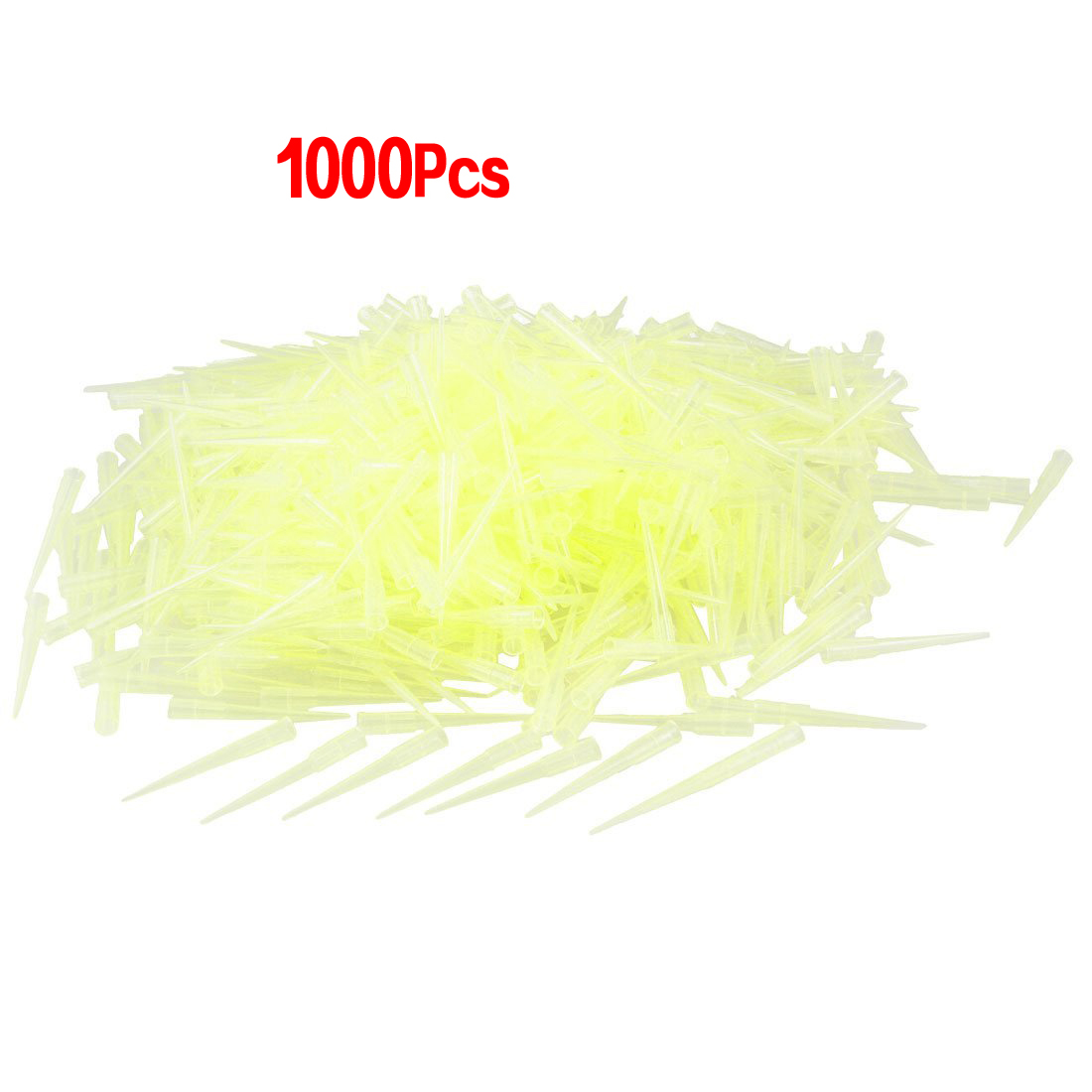 Laboratory Clear Yellow 200UL Lab Liquid Pipette Pipettor Tips 1000 PcsLaboratory Clear Yellow 200UL Lab Liquid Pipette Pipettor Tips 1000 Pcs