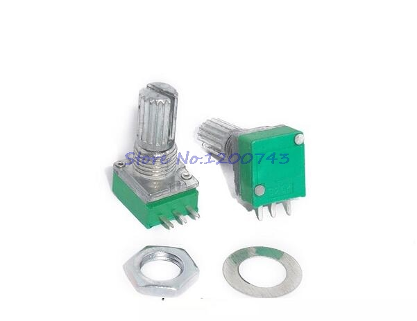 5pcs/lot RK097N 5K 10K 20K 50K 100K 500K B5K With A Switch Audio 3pin Shaft 15mm Amplifier Sealing Potentiometer In Stock