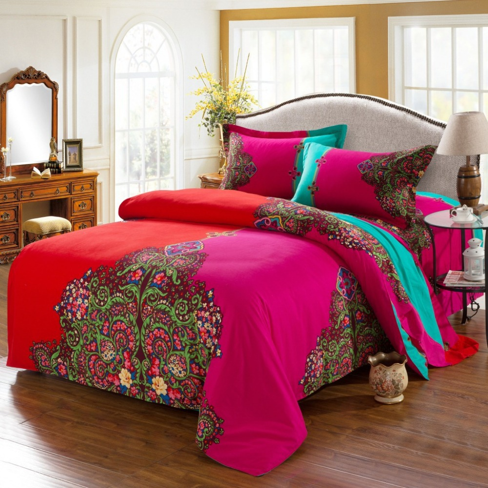 Bohemian Bedding Set 4pcs Boho Style Funda Nordica Bedclothes