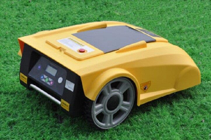 Дома Приспособления робот газонокосилка новые Funciton с компасом + свинцово кислотная батарея + пульт дистанционного управления + дождь Сенсор