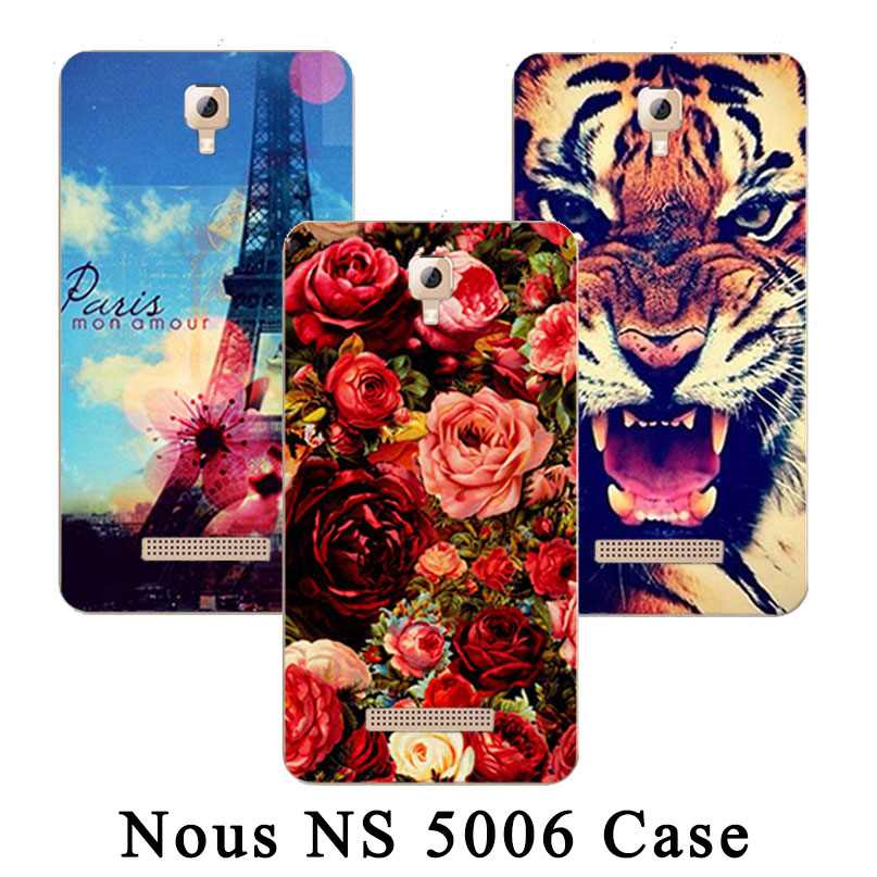 New Arrival Painting Printed Rose Owl Tiger Eiffel Tower Phone case For <font><b>Nous</b></font> NS 5006 <font><b>NS5006</b></font> back cover For <font><b>Nous</b></font> NS 5006 <font><b>NS5006</b></font> image