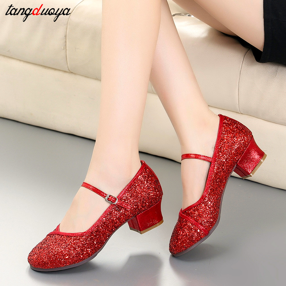 outdoor dance shoes latin woman dancing shoes salsa ballroom woman shoes round toe  shoes plus size 41 zapatillas mujer