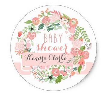 1 5 polegadas bonita grinalda floral baby shower