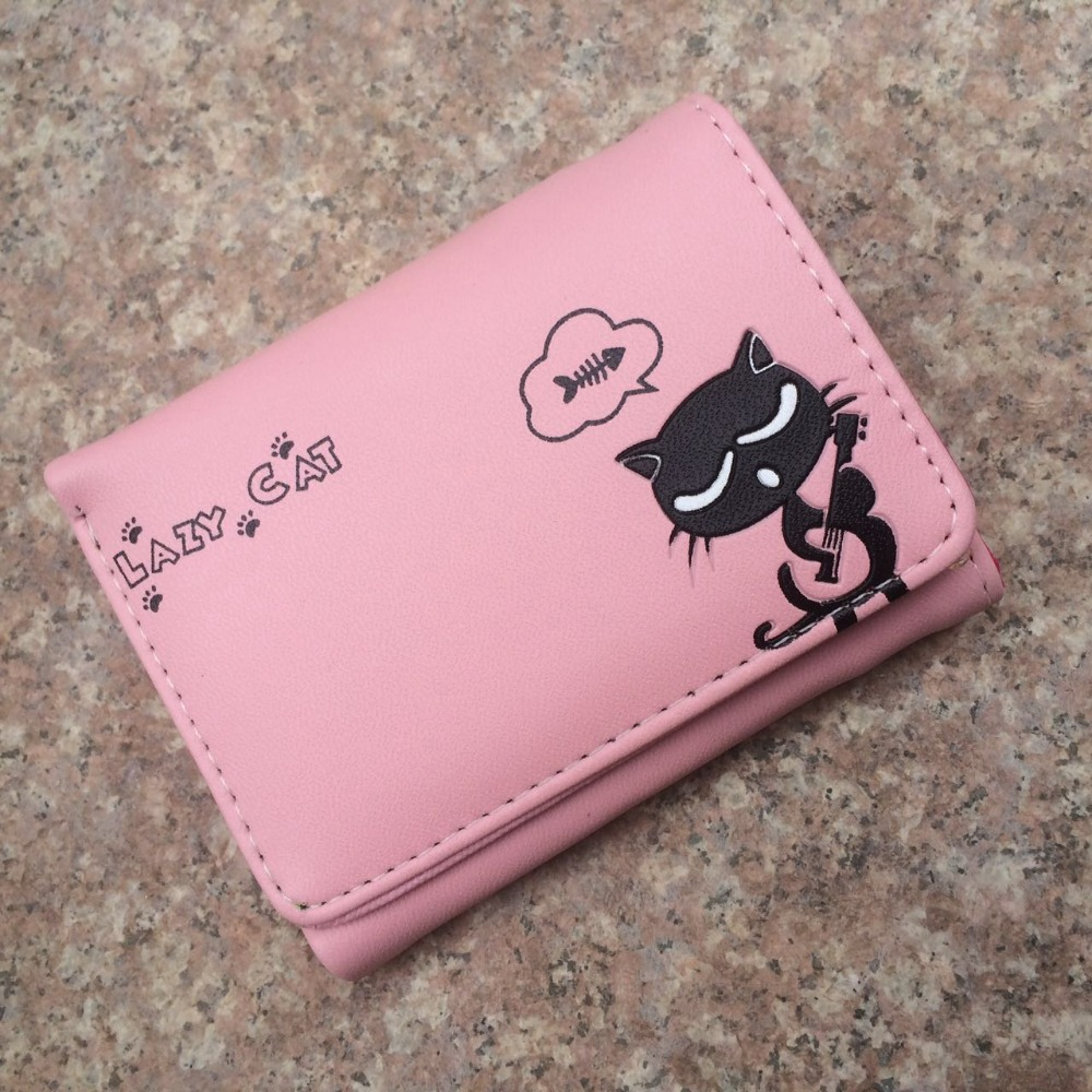 New Cartoon cat wallet Children Girl's Cute short purse women coin purses Kids Wallets Bag ladies female Card holder coin Pouch wallet female cat anime women purses leather cute trifold slim wallets short card holder coin purses small korean women wallets
