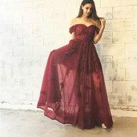 Модное бургундское женское платье с высокой талией Летние красивые Формальные Макси Платья Vestidos de Noiva аппликации девушка выпускное длинное