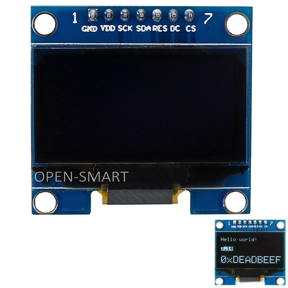 1.3 inch SH1106 OLED Display Module for Arduino 1.3, 128 x 64 Interface, White Color, with I2C / 4SPI Interface