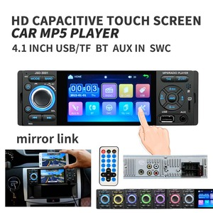 Image 3 - Podofo Autoradio 1Din Car Radio JSD 3001 4.1 MP5 Car Player Touch Screen Car Stereo Bluetooth 1Din Auto Radio Camera Mirror Link