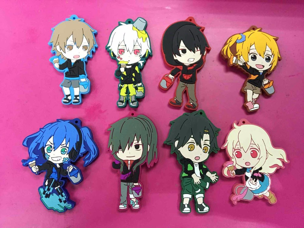 Kagerou Project Mekakucity Mekaku City Actors Mini Figure Keychain