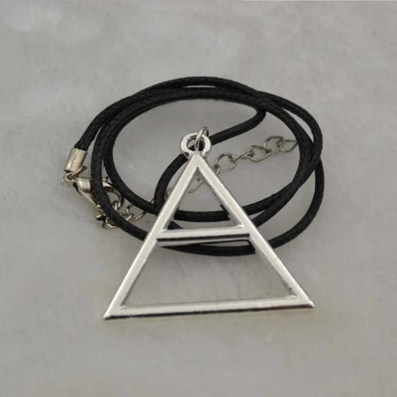 30 Seconds to Mars Logo Necklaces Triangle Pendant Necklace For Men And Women Fans Souvenir Gift