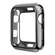 Tpu fino caso macio para apple assistir se série 6 5 4 38mm 42mm chapeamento capa protetora para iwatch série 1 2 3 4 5 40mm 44mm