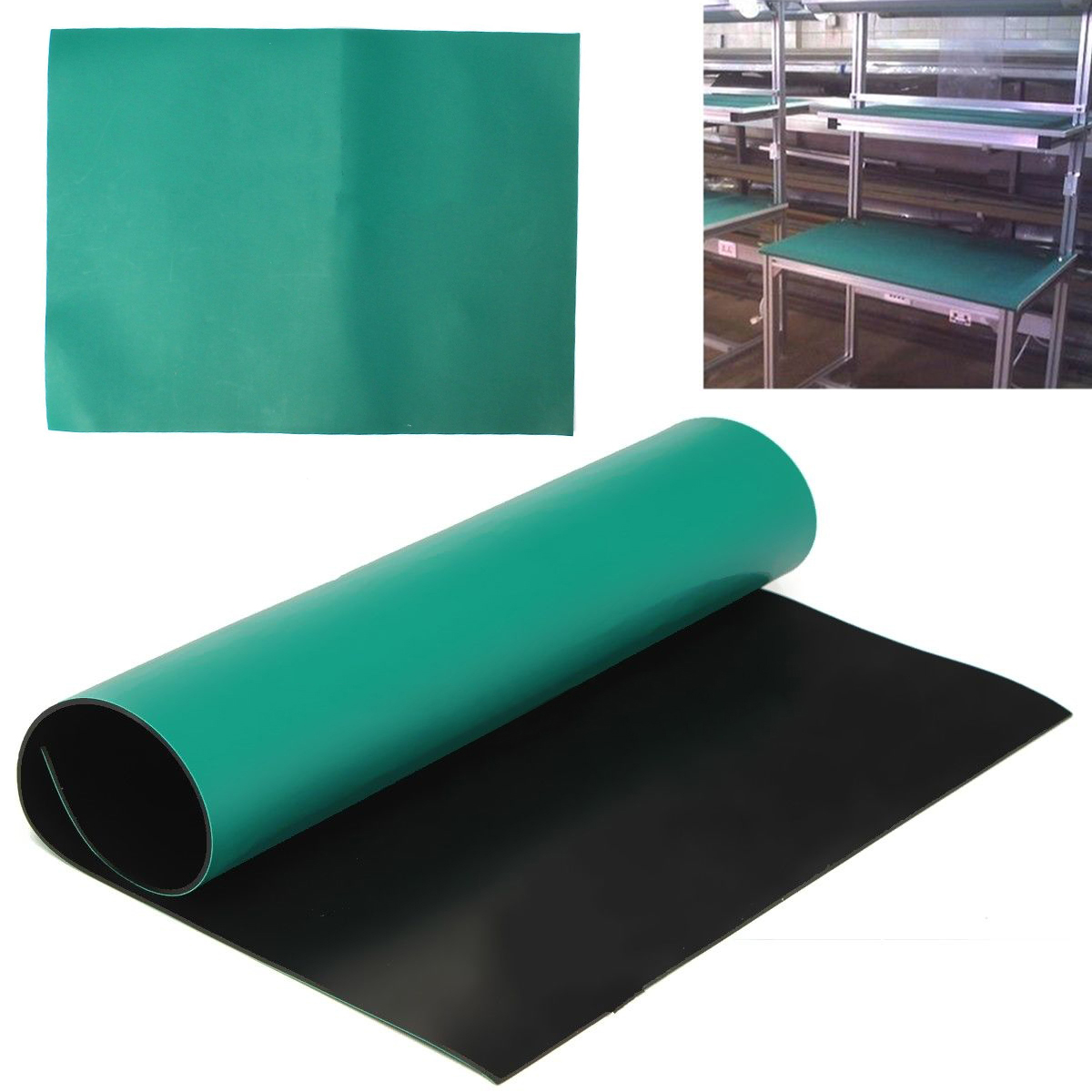 Mayitr Green Desktop Anti Static Mats Rubber ESD Grounding Mat Maintenance Platform Cushion For Electronics Repairing 30*40cm health grounded mat universal mat conductive kit grounding mats 68 25cm for emf protection