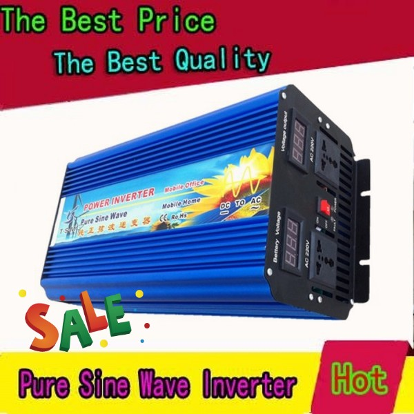 5000w pure sine wave inverter 10000w peak  12vdc to 230vac