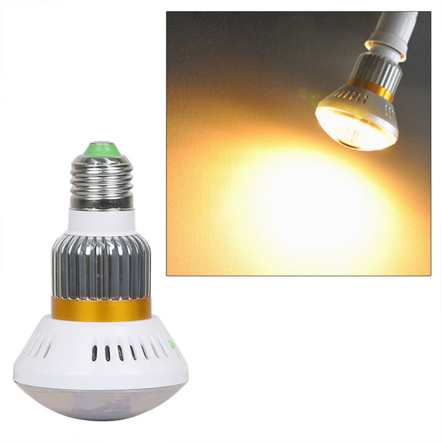 Eazzy BC-885YM HD960P P2P Mirror Bulb WiFi/AP IP Network 3.6mm Len Camera with 5w Warm Light Night Vision and Motion Dection
