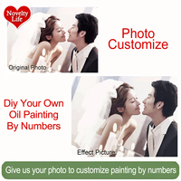 Noveltylife Photo Custom DIY Oil Painting By Numbers Abstract Painting Acrylic Picture For Home Decor Handpainted