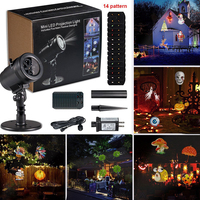 Outdoor Projector Light Christmas Party LED Laser Projector Light With 14 Switchable Patterns Waterproof Landscape Spotlight