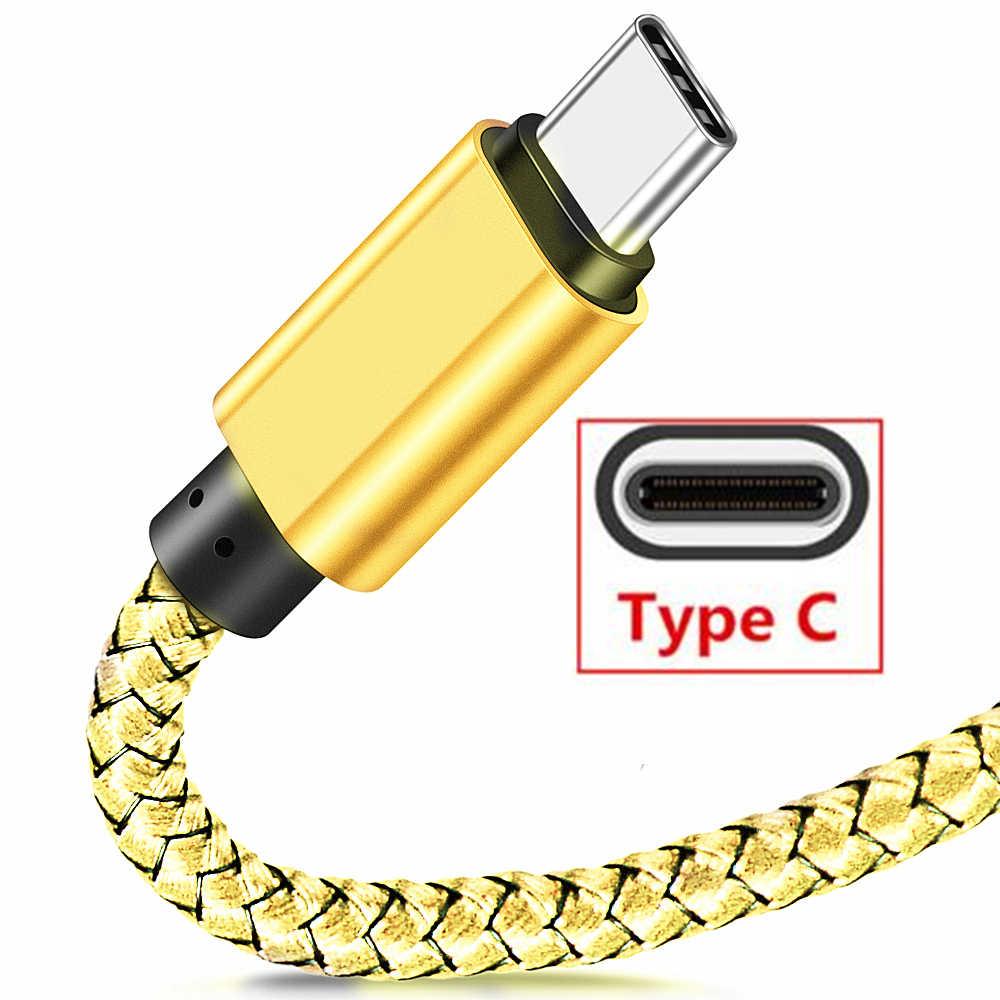 Кабель usb type C для быстрой зарядки для huawei P20 Lite P30 pro type c зарядное устройство для синхронизации данных 1 м 2 м для Xiaomi Mi 8 lite 9 9 t pocophone f1