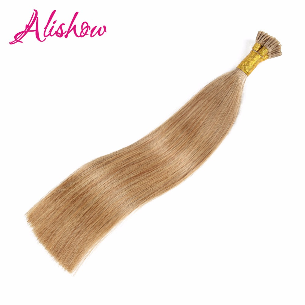 Online Shop Alishow Pre Bonded Hair Extensions 1g 16 18 20 22 Remy Keratin Human Straight Platinum Blonde I Tip