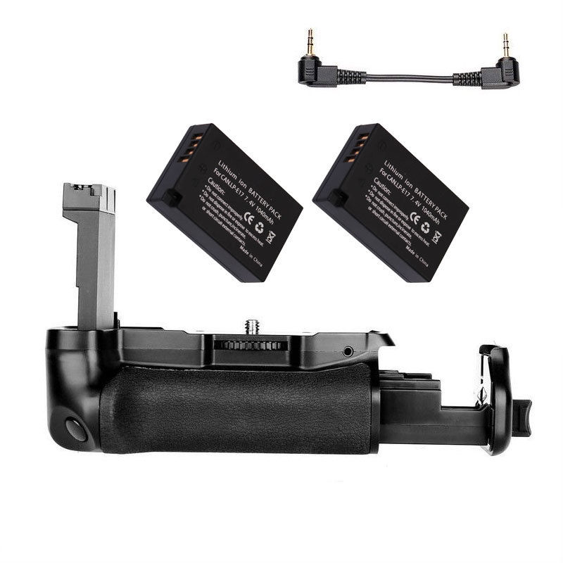 JINTU DSLR Camera Power Battery <font><b>Grip</b></font> +2x LP-E17 + Charger Kit For CANON EOS 800D / <font><b>77D</b></font> / Rebel T7i / Kiss X9i Camera image