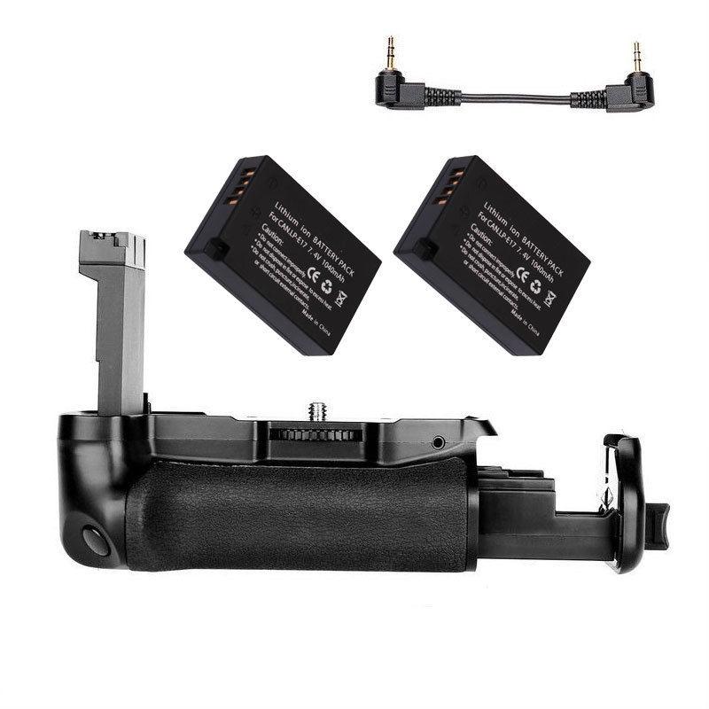 JINTU DSLR appareil photo puissance batterie Grip + 2x LP-E17 + Kit chargeur pour CANON EOS 800D/77D/rebelle T7i/Kiss X9i appareil photo