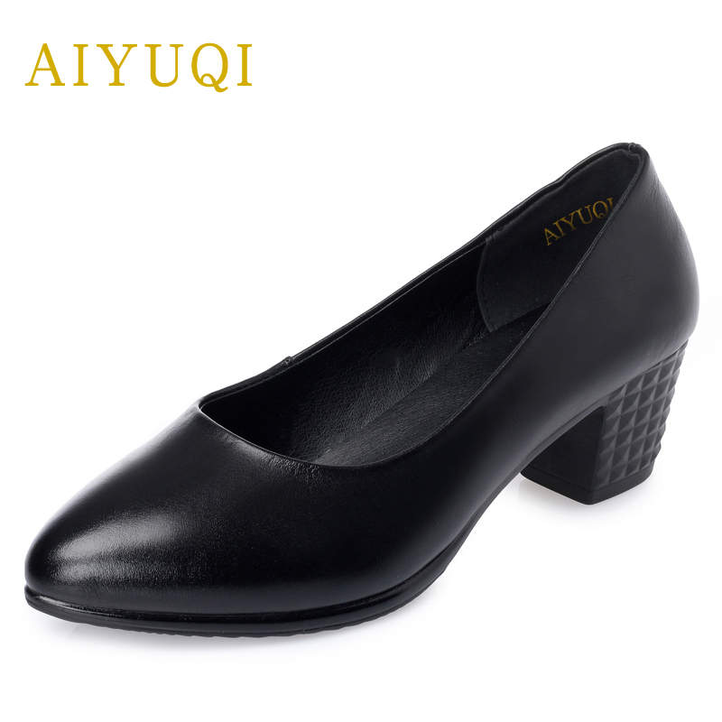 AIYUQI 2018 new genuine leather women's shoes shallow mouth soft nurse shoes comfortable work spring shoes women aiyuqi 2018 new genuine leather women s shoes shallow mouth soft nurse shoes comfortable work spring shoes women