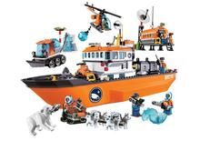 NEW City ice breaker ship Building Blocks DIY Dog Sled Snowmobile Model Educational Brick Toys Gift Compatible with 60062 Lepin цена в Москве и Питере