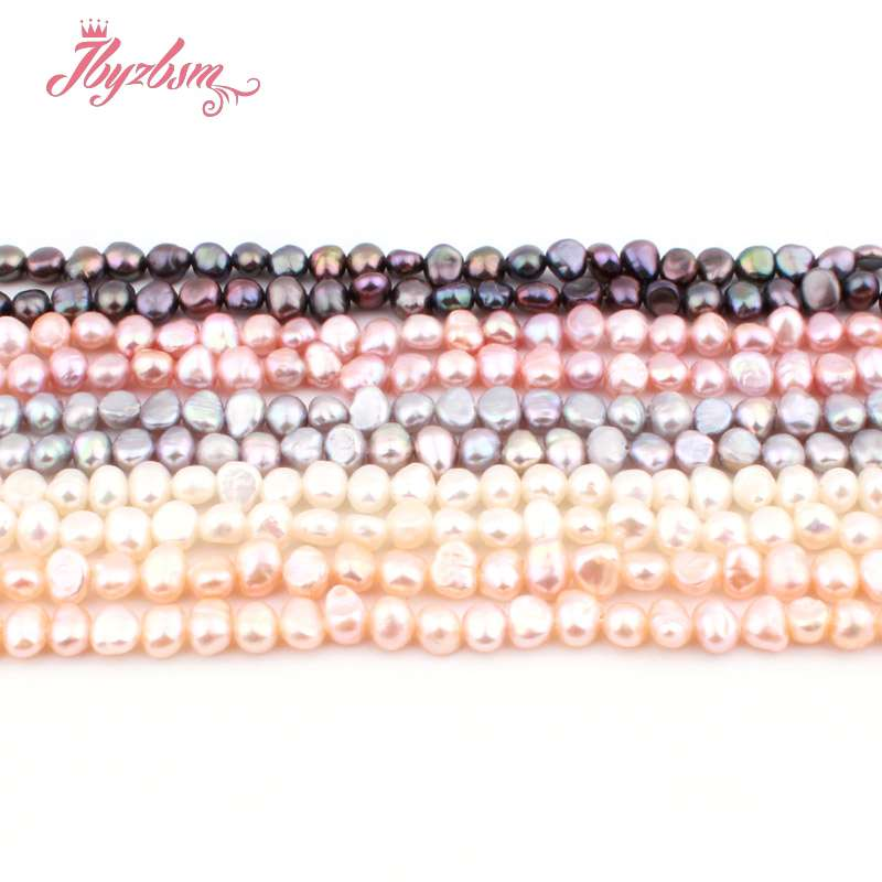 """3-4.5mm Irregular Freshwater Pearl Natural Stone Beads For DIY Necklace Bracelets Earring Jewelry Making 14.5"""""""