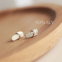 Brief Flip Flops Stud Earring Female S925 Pure Silver Personalized Fashion Small Anti Allergic Earring