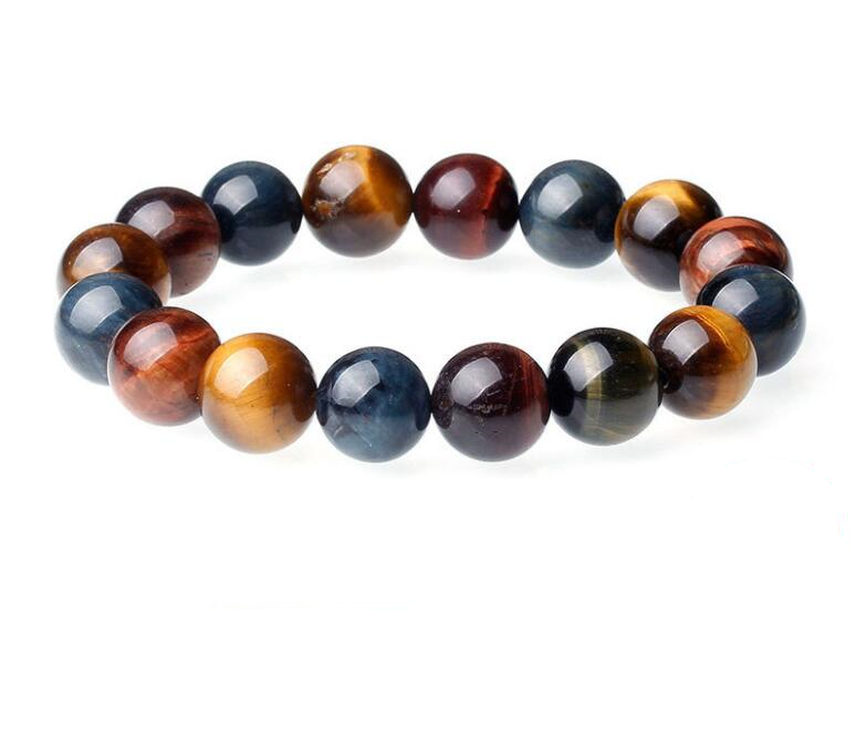 Crystal natural tiger eye bracelet variety of three colors
